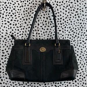 Black coach shoulder strap purse